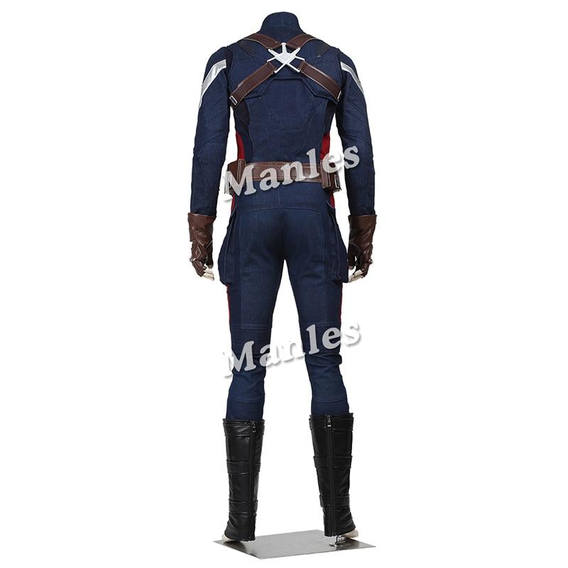 Captain America Cosplay Kostuum The Winter Soldier Steve Rogers - Carnavalskostuums - Foto 3