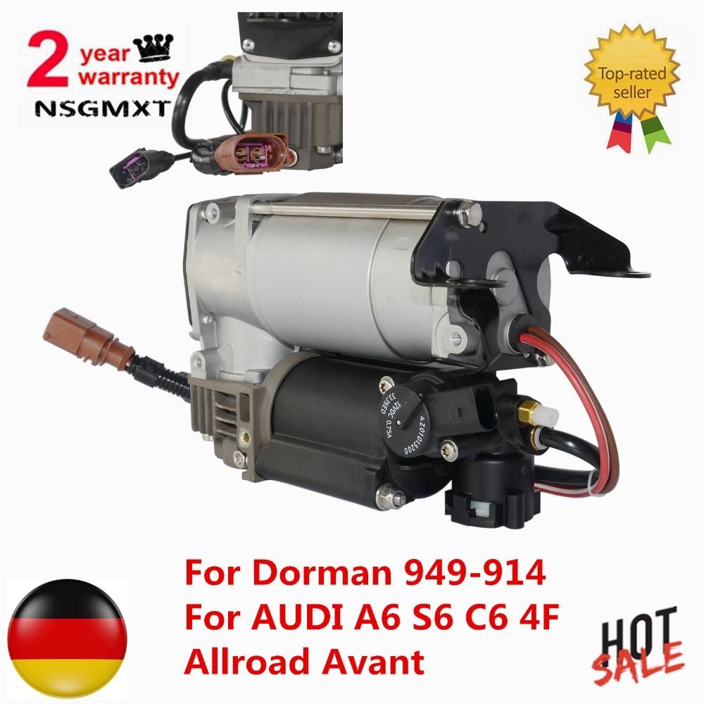 Air Suspension pompe compresseur Pour Dorman 949-914 Pour AUDI A6 S6 C6 4F Allroad Avant 4F0616006A 4F0616005E 4F0616005 4F0616005D