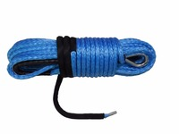 Blue 12mm*30m Synthetic Winch Rope,Plasma Rope,ATV Winch Accessories,Kevlar Winch Cable,Winch Rope Extension
