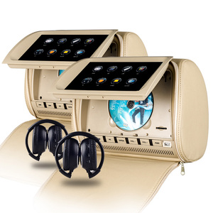 Image 4 - XST Monitor de 9 pulgadas para reposacabezas de coche, pantalla táctil, reproductor de DVD, vídeo MP5, cubierta con cremallera, compatible con IR/FM/USB/SD/altavoz/juego, 2 uds.