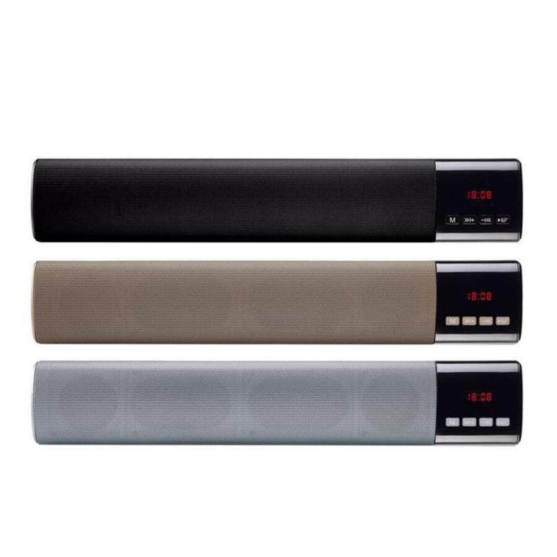 Dual Bass Soundbar Wireless Bluetooth Speaker LCD Touch Speakers Portable Handsfree USB TF Card Slot FM Radio For iPhone Xiaomi