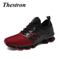 2018 Sport Trainers Men Sneakers Breathable Athletic Shoes Black Green Comfortable Mens Gym Sneakers Brand Runners