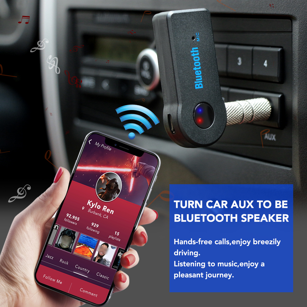 Image 2 - AUX Audio Music Car Bluetooth Receiver For Nissan qashqai Citroen c4 c5 c3 Chevrolet cruze aveo Peugeot 207 Car Accessories-in Car Tax Disc Holders from Automobiles & Motorcycles