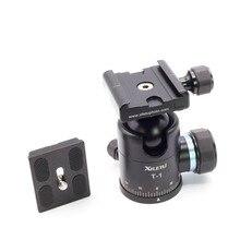Xiletu T-1 алюминиевый штатив шаровая Головка шариковая головка БЫСТРОРАЗЪЕМНАЯ пластина Pro камера штатив Максимальная нагрузка до 15 кг