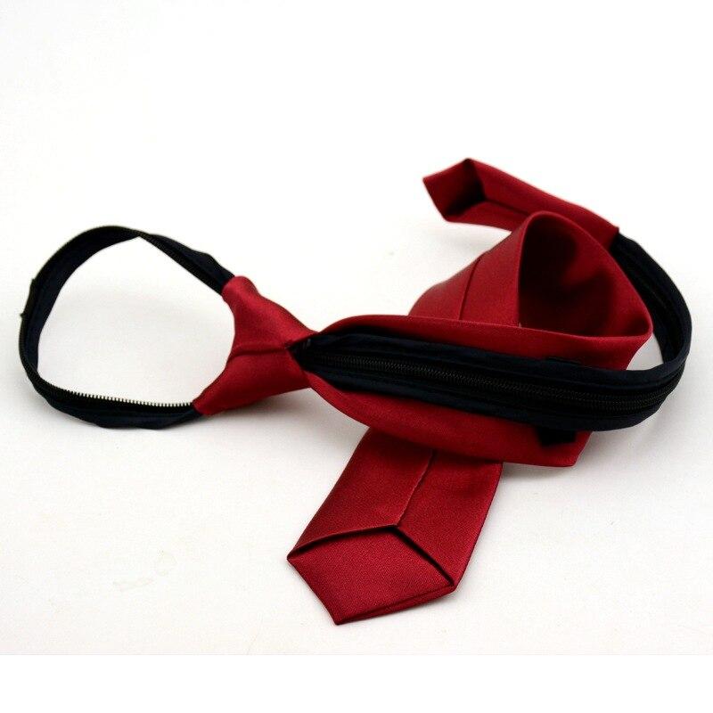 ST01 Pre tied Neck Tie boys girls Children Zipper Ties Red Black Blue Solid Slim Narrow Bridegroom Party Dress Wedding Necktie in Boy 39 s Tie from Apparel Accessories