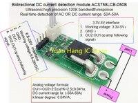 Bidirecional AC/DC sensor atual módulo acs758lcb-050b 120 khz largura de banda DC:-50-50a 0.04 v/1a