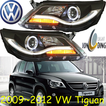 Tiguan headlight,2009~2012(Fit for LHD,RHD need add 200USD),Free ship!Tiguan fog light,2ps/se+2pcs Aozoom Ballast;Touareg,Tiguan