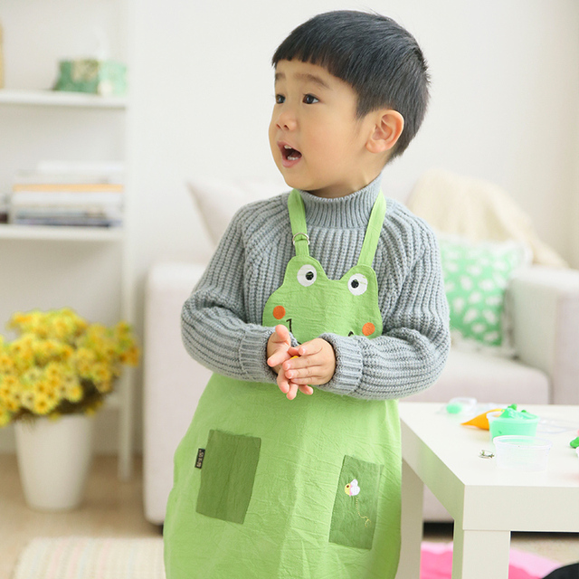 creative new fashion kawaii cartoon colorful kids kitchen apron rh aliexpress com