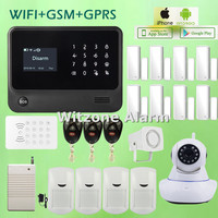 WIFI Alarm G90B Touch Screen Keypad LCD Display Wireless Home Burglar Security Alarm System with Russian/Spanish/French/English