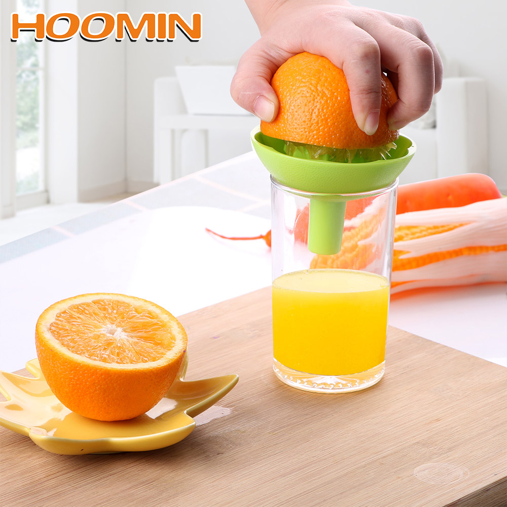 HOOMIN Squeezer With Funnel Cooking Tool Mini Fruit Juice Cup Household Manual Juicer 2 In 1 Orange Lemon Juice Squeeze Tool
