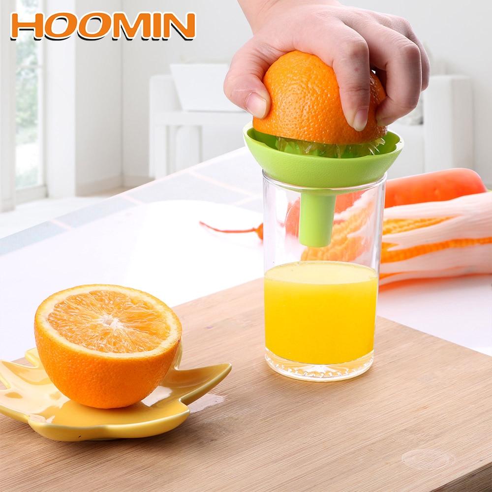 HOOMIN Squeezer With Funnel Cooking Tool Mini Fruit Juice Cup Household Manual Juicer 2 In 1 Orange Lemon Juice Squeeze Tool