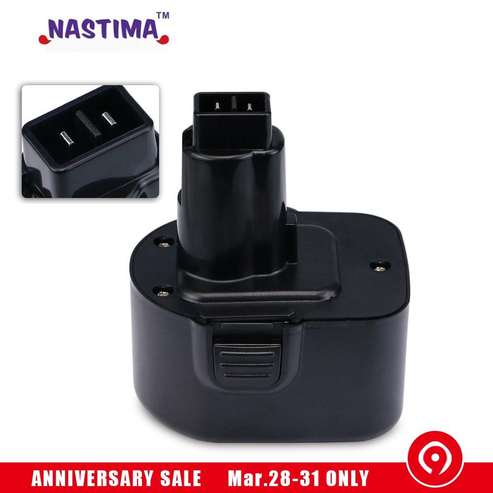 NASTIMA Ni CD 12V 2100mAh Replacement Batteries Cordless Drill For dewalt de9074 DW9071 DW9072 DC9071 DE9037