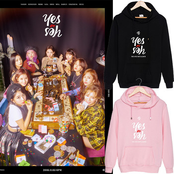 ONGSEONG KPOP TWICE The 6th Mini Album Yes or Yes 2018 New Hooded Sweatshirt Long Sleeve