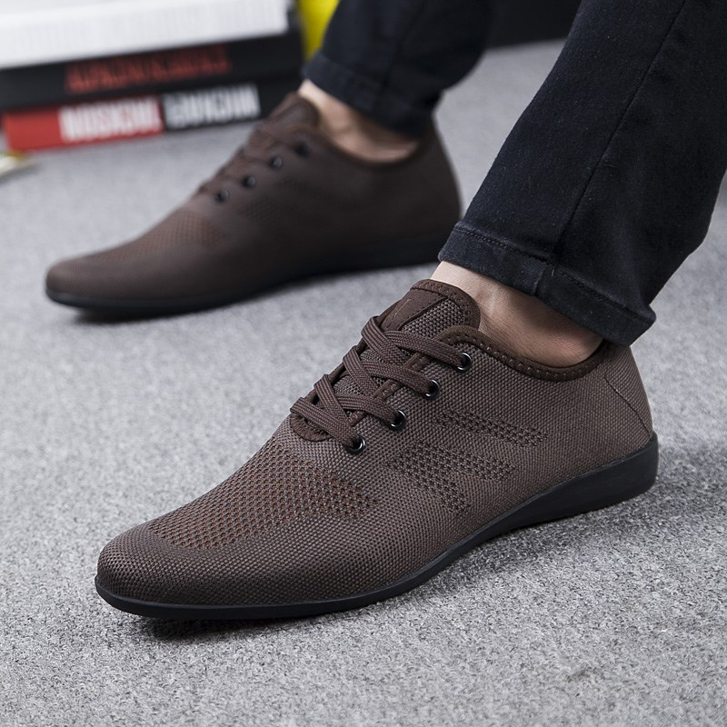 Image 5 - Hot Summer Men Shoes Breathable Men Casual Shoes Low Lace up Mesh Male Shoes Comfortable Flat Shoes For Men Zapatillas Hombre-in Men's Casual Shoes from Shoes