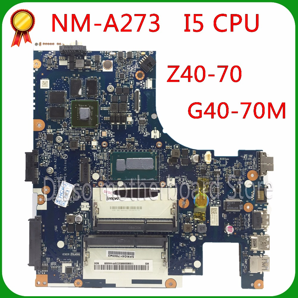 KEFU NM-A273 motherboard For Lenovo Z40-70 i5 motherboard ACLUA/ACLUB NM-A273 840M/820M 100% tested original motherboard