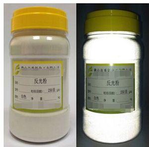 Image 4 - 100g Weiß Grau Reflektierende pulver Hohe brechung glas mikrosphären reflektierende pulver Pigment Reflektiert Weiß Licht beschichtung