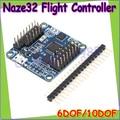 Atacado 1 pcs 6DOF Naze 32 Flip32 + Rev 5 Naze32 ACRO/PRO placa de Controlador de Vôo 10DOF Preto com brano e bússola Dropship