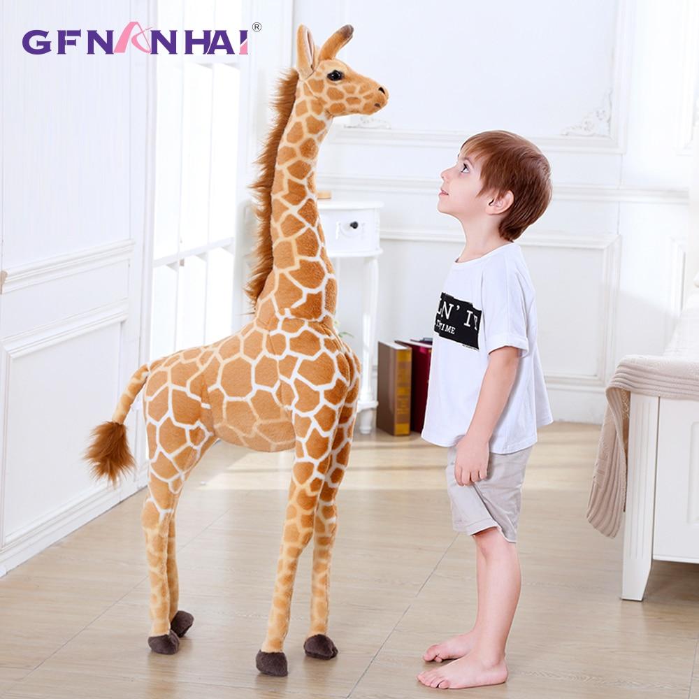 Plush-Toys Giraffe-Doll Simulation-Giraffe Birthday-Gift Stuffed Animal Soft Giant-Size