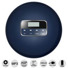 HOTT reproductor de CD portátil con conector para auriculares LCD, antideslizante, protección a prueba de golpes, compacto, Walkman para reproductor de disco de música