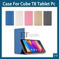 """Envío gratis PU Funda de piel para cube T8 t8 t8 más T8 Última 8 """"tablet pc, caso de alta calidad para el CUBO T8 + free 2 regalos"""