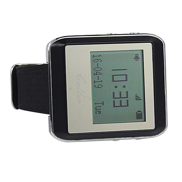 Hot Wireless Watch Calling Receiver Call Pager System (4)