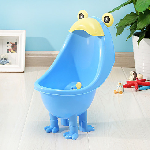 Baby Wall-Mounted Toilet Training Toddler Frog Stand Vertical Urinal Baby Boys Potty Toilet  Pee Trainer Bathroom pee boy