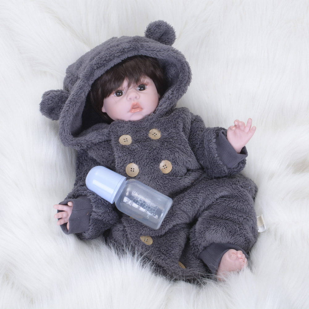 Realistic Girl Bonecas Reborn Babies Dolls For Sale Fashion Silicone Vinyl Baby Doll 22 inch Wear Clothes bebe Birthday Gift doll accessories american girl dolls clothes spiderman batman superman cosplay for 16 18 inch dolls girl gift x 54 dropshipping