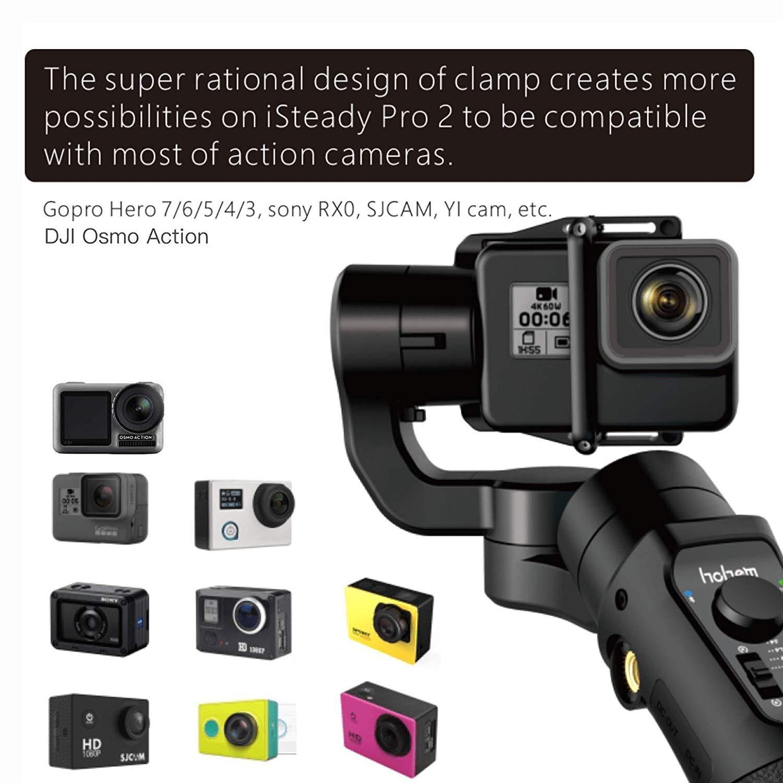 Stabilisateur de cardan à 3 axes Hohem iSteady Pro 2 résistant aux éclaboussures pour caméras d'action DJI Osmo Action Gopro Hero 7/6/5 SJCAM YI - 3