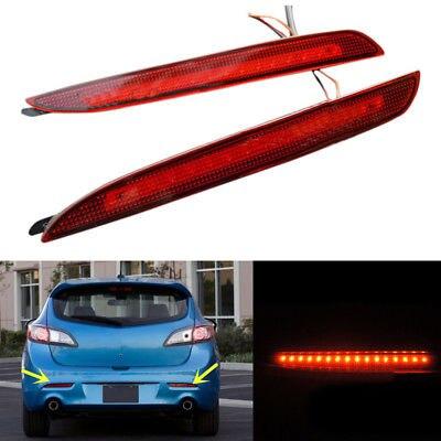 Accessoires de voiture ensemble feux de brouillard arrière pour MAZDA 3 2010-2012 2013 2x feux de brouillard arrière pare-chocs arrière freins pièces d'auto