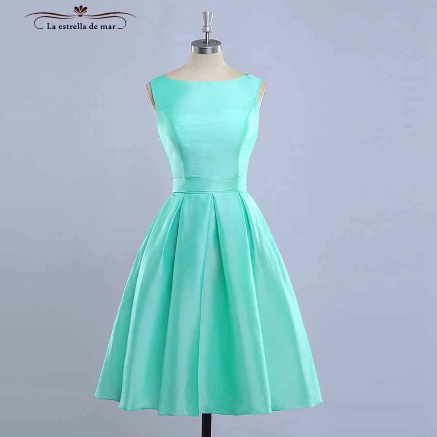 vestido madrinha2018 New Satin Glamor Length Mint Green Turquoise ...