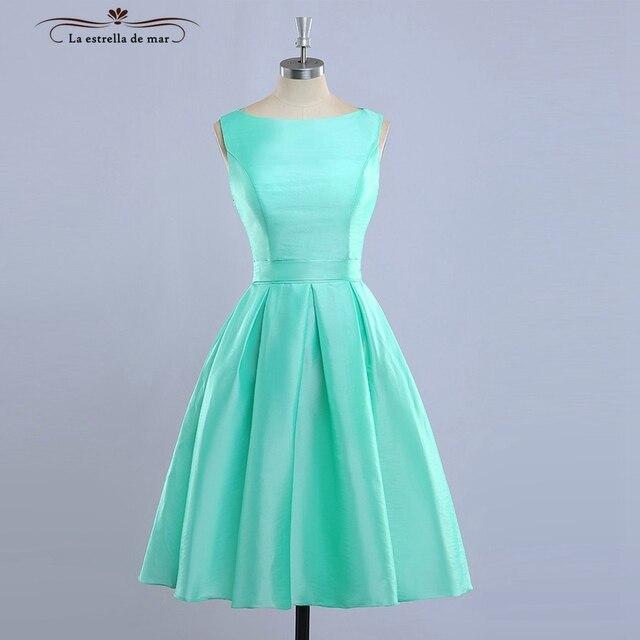 vestido madrinha2018 New Satin Glamor Length Mint Green Turquoise ...