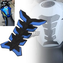 Blue 3D Rubber Sticker Motorcycle Sticker Fuel Gas Tank Pads Tank Cover Protector Tank Sticker Tank Decals Free Shipping