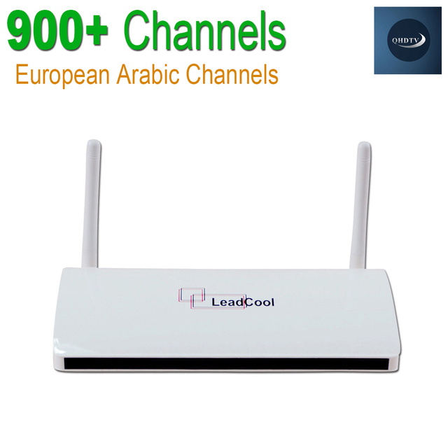 IPTV Channels Box Leadcool Android Wifi 1G/8G 900+ Italy Portuguese French Tv Receiver Europe Arabic Sky Channels Package