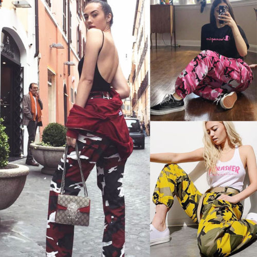 Women Camouflage Casual Denim Loose Jeans Pants High Waist Jeans Trousers Ladies Female Print Daily Pant Clothing S M L