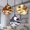 Европейский красочный стеклянный подвесной светильник в европейском стиле E27 светодиодная лампа для ресторана  столовой  бара  кафе  магази...