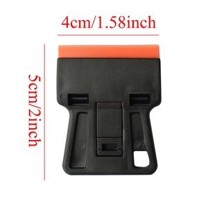 Image 5 - Carbon Fiber Car Tools Vinyl Car Wrap Razor Scraper+100Pcs Plastic Razor Blade Cleaning Squeegee Glue Film Sticker Remover E17+