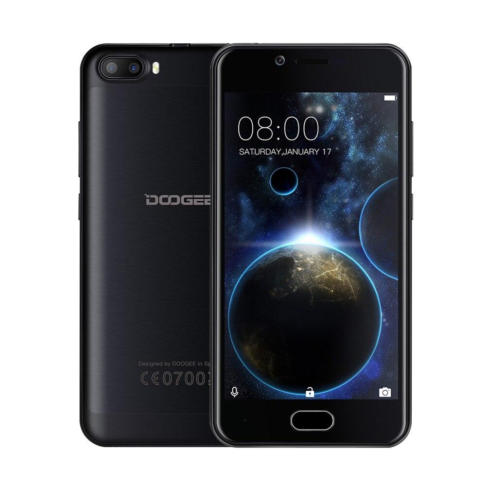 """Цена за Оригинал DOOGEE Стрелять 2 мобильного телефона 2 ГБ + 16 ГБ 5.0MP Две Камеры Заднего 5.0 """"Android 7.0 MTK6580A Quad Core Отпечатков Пальцев смартфон"""
