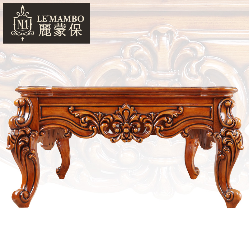American Furniture European solid wood carving coffee table tea Office  antique marble J6 teasideend-in Coffee Tables from Furniture on  Aliexpress.com ... - American Furniture European Solid Wood Carving Coffee Table Tea
