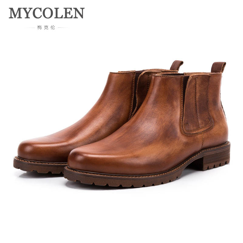MYCOLEN Brand Autumn/Winter MenS Boots British Style Fashion Ankle Boots High Quality Soft Leather Men Casual Shoes BootsMYCOLEN Brand Autumn/Winter MenS Boots British Style Fashion Ankle Boots High Quality Soft Leather Men Casual Shoes Boots
