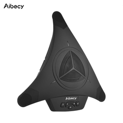 Aibecy Condenser Microphone High-power Conference Omnidirectional Mic Speaker Speakerphone Plug &Play for Business Video Meeting