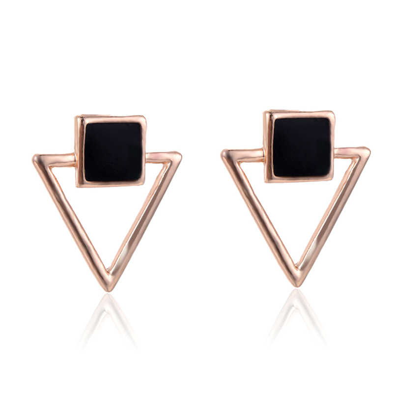 SUKI Bangtan Oorbellen Voor Vrouwen Drop Earrings Women Statement Jewelry Enamel Square Hollow Triangle Girl Elegant Earring