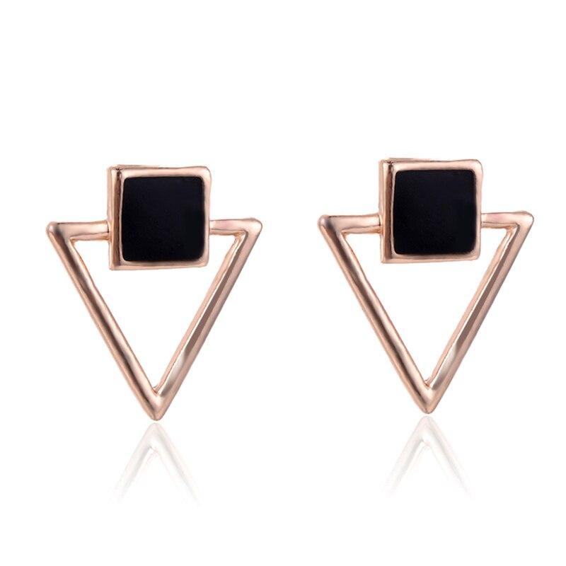 SUKI Kerst Oorbellen Voor Vrouwen 2018 BTS Earrings Women Statement Jewelry Enamel Square Hollow Triangle Girl Elegant Earring
