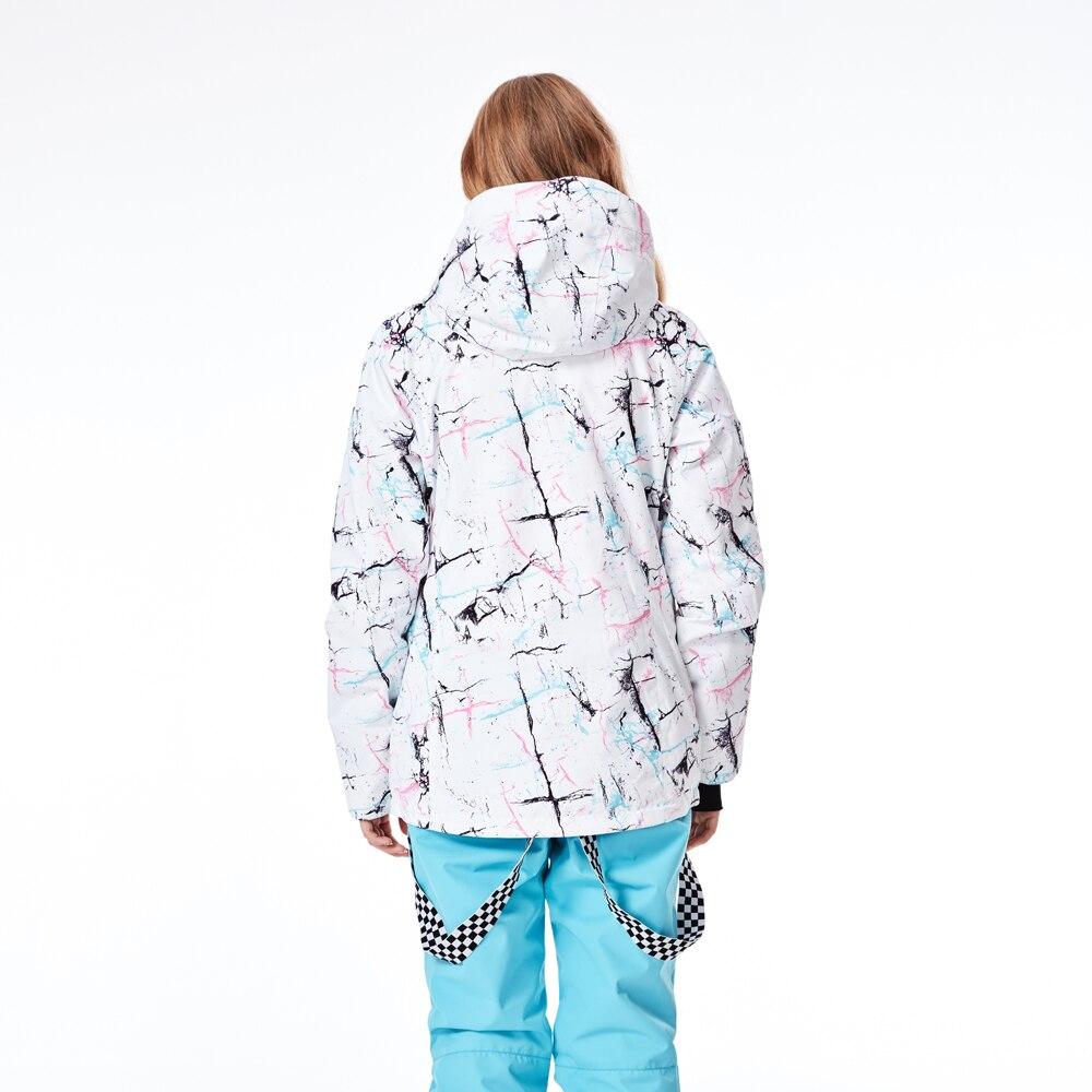 Veste de Ski femme marque 2018 nouveau coupe-vent imperméable manteau de neige chaude femme hiver Ski Snowboard veste Ski femmes - 5