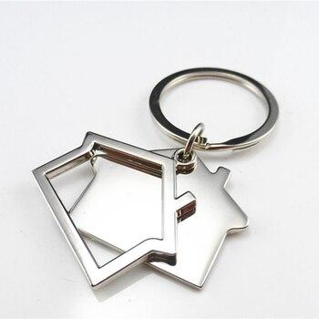 Custom Logo House Home Real Estate Promo Gift Keychain Men Women Car Bag Customized Key Ring Party Key Chain 100 pcs Wholesale