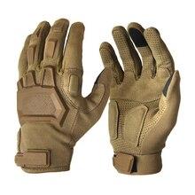 Тактические перчатки для страйкбола с сенсорным экраном, Пейнтбольные Военные перчатки, мужские армейские противоскользящие перчатки для пешего туризма, велосипеда, перчатки для спортзала с полным пальцем