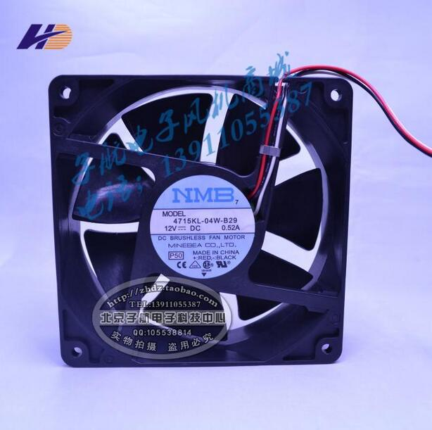 NMB 4715KL 04W B29 12038 12V 120*120*38mm 0.52A three wire speed ...
