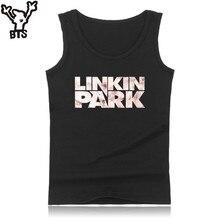 dee8265cff299 BTS Linkin Park Mens Tank Tops Bodybuilding Sleeveless O-Neck Workout Tank  Tops Men Black