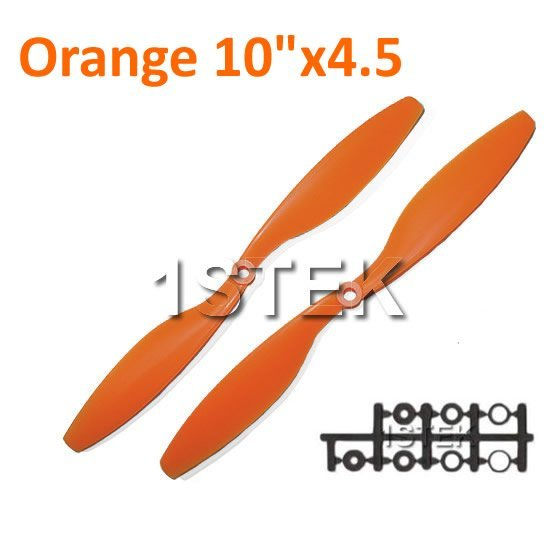 """12PAIRS ORANGE 10x4.5"""" 1045 1045R CW/CCW Propeller For Multi Rotor Copter"""