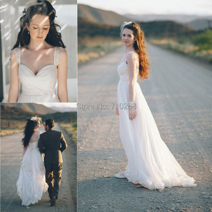 Wedding Dresses With Sweetheart Neckline And Sleeves: Beach Wedding Dresses 2014 A Line Sweetheart Neckline Tank