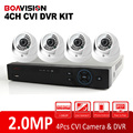 1080 P 4 Канал HDCVI DVR Камеры Системы 4Ch 2-МЕГАПИКСЕЛЬНАЯ HD CVI ИК Крытый Купол Видеонаблюдения CCTV DVR Система Комплект Мобильный P2P посмотреть